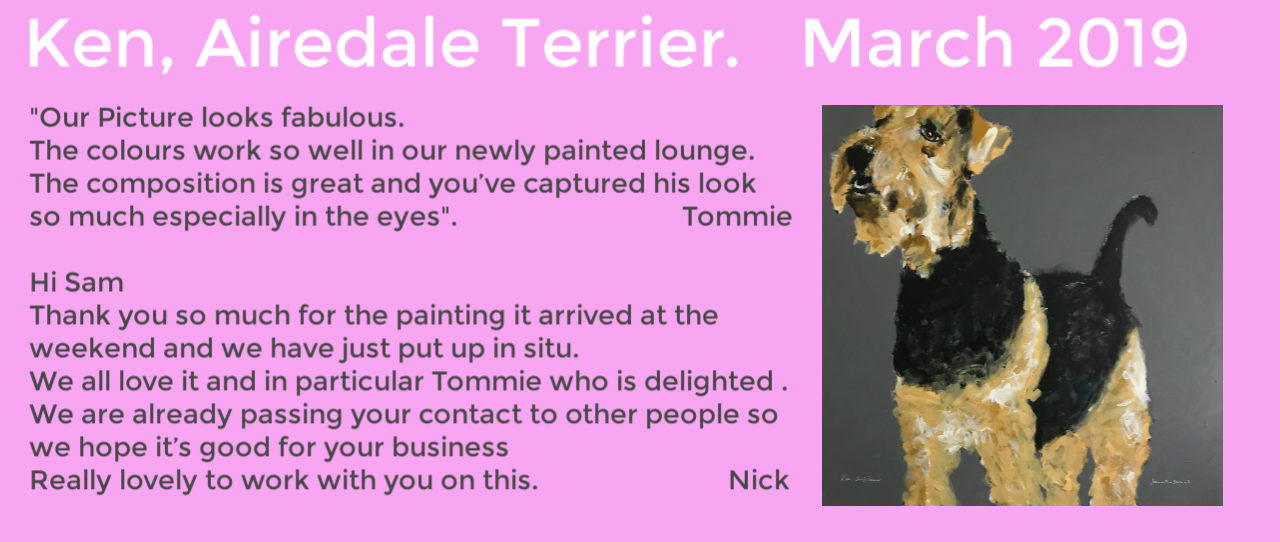 Airedale Terrier by Samantha Barnes Artist, ipaintdogs.com