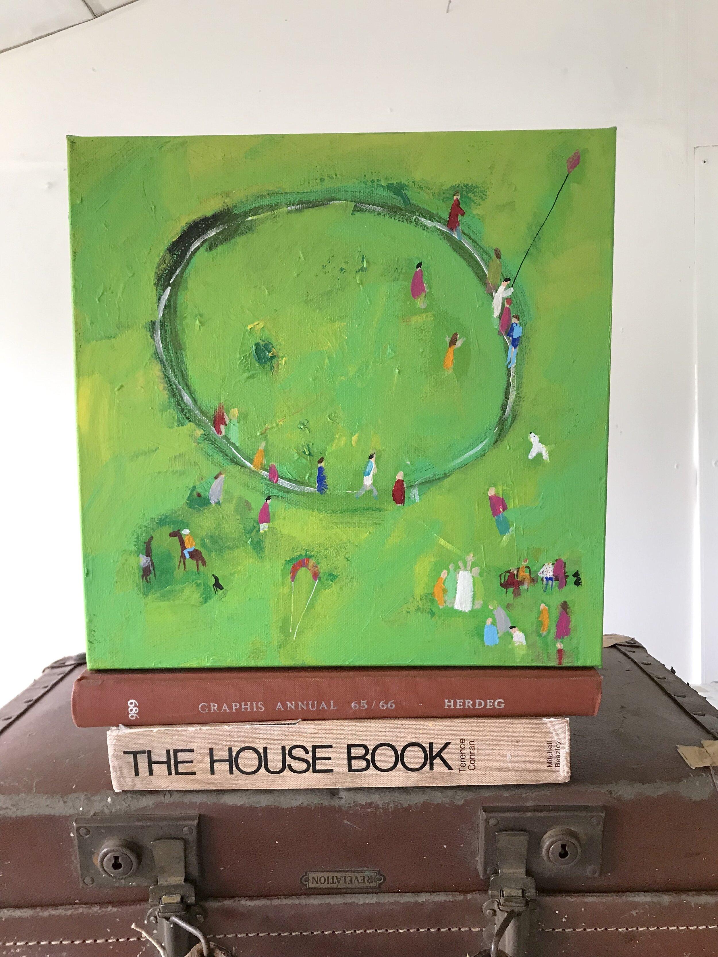 'Danebury Ring' Hampshire. Study Painting