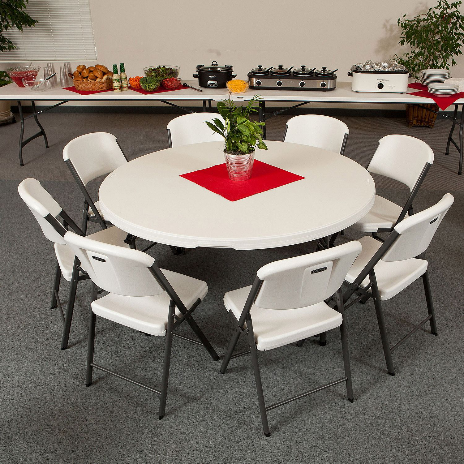 """60"""" Round Table • $11.50"""