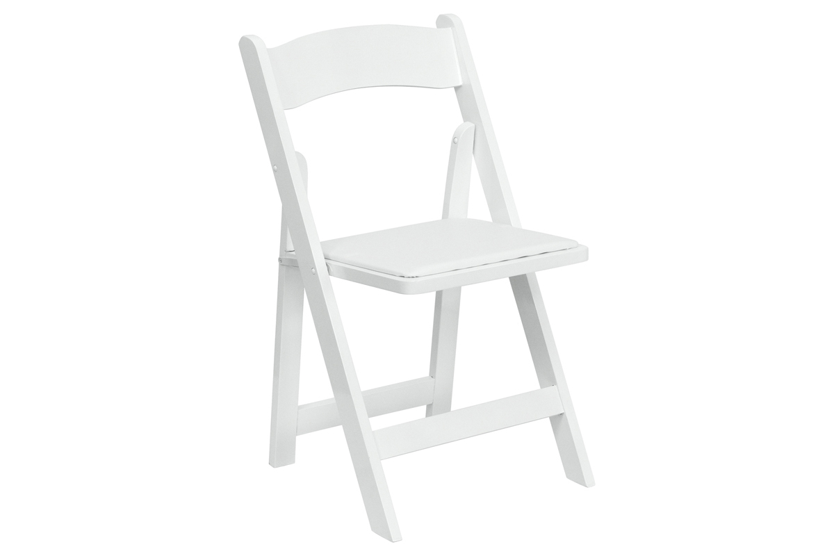White Resin Chairs • $2.75