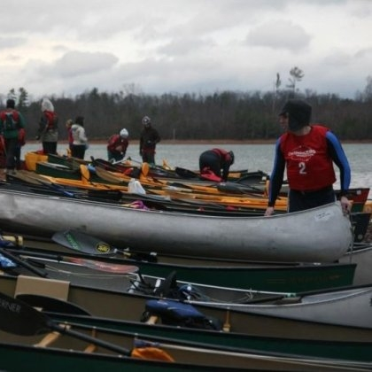 Staging the Canoes