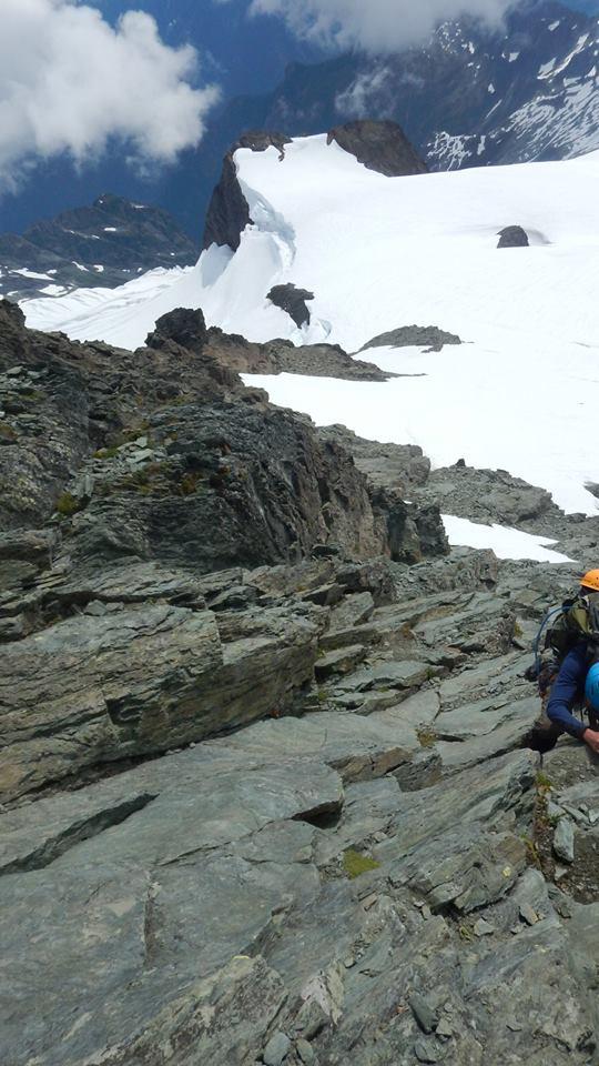 Climbing Summit Pyramid