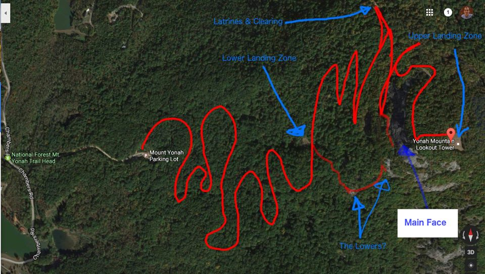 My completely amazing and equally inaccurate hand-drawn trail map.