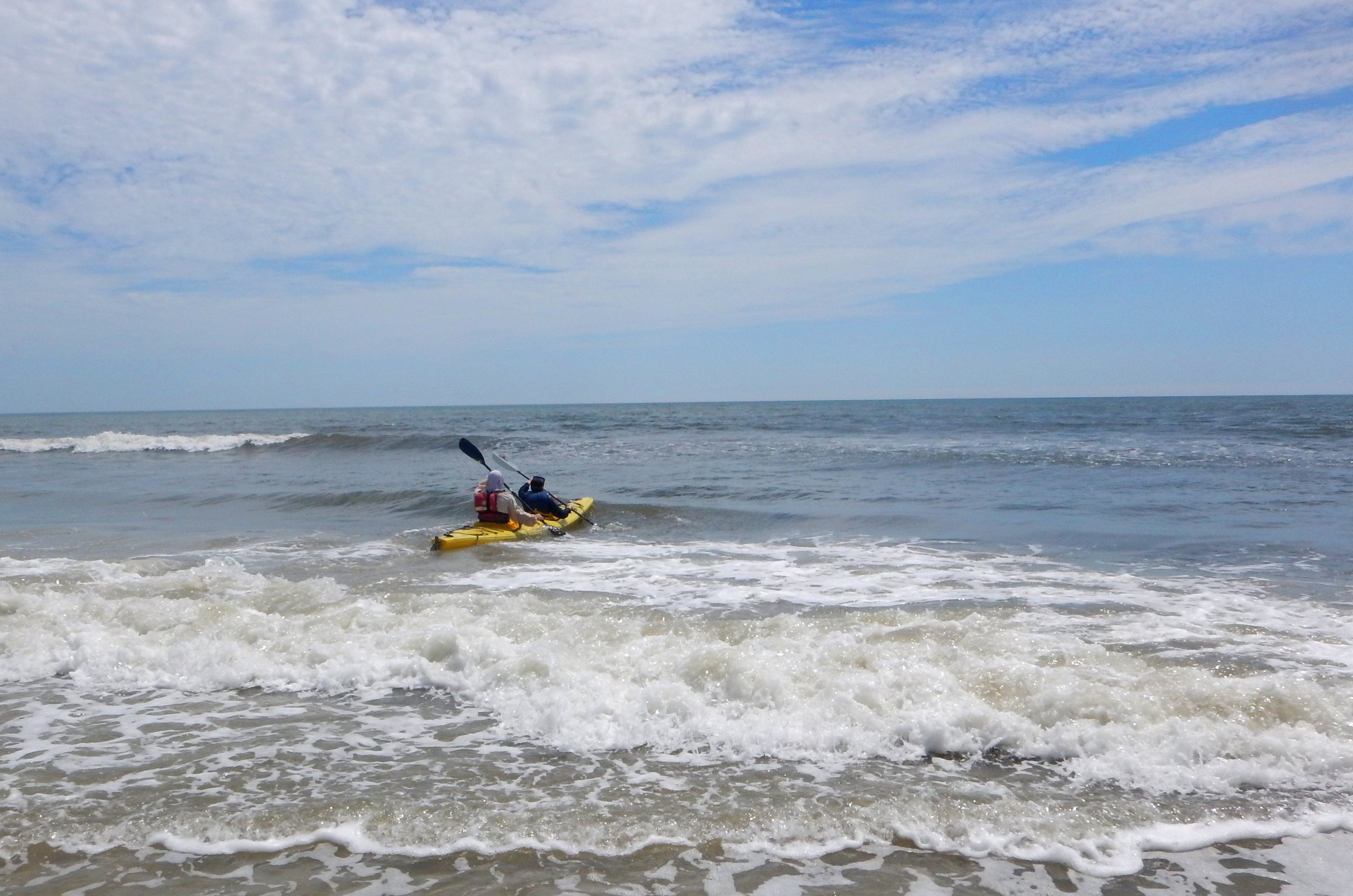 Paddling Out to Sea