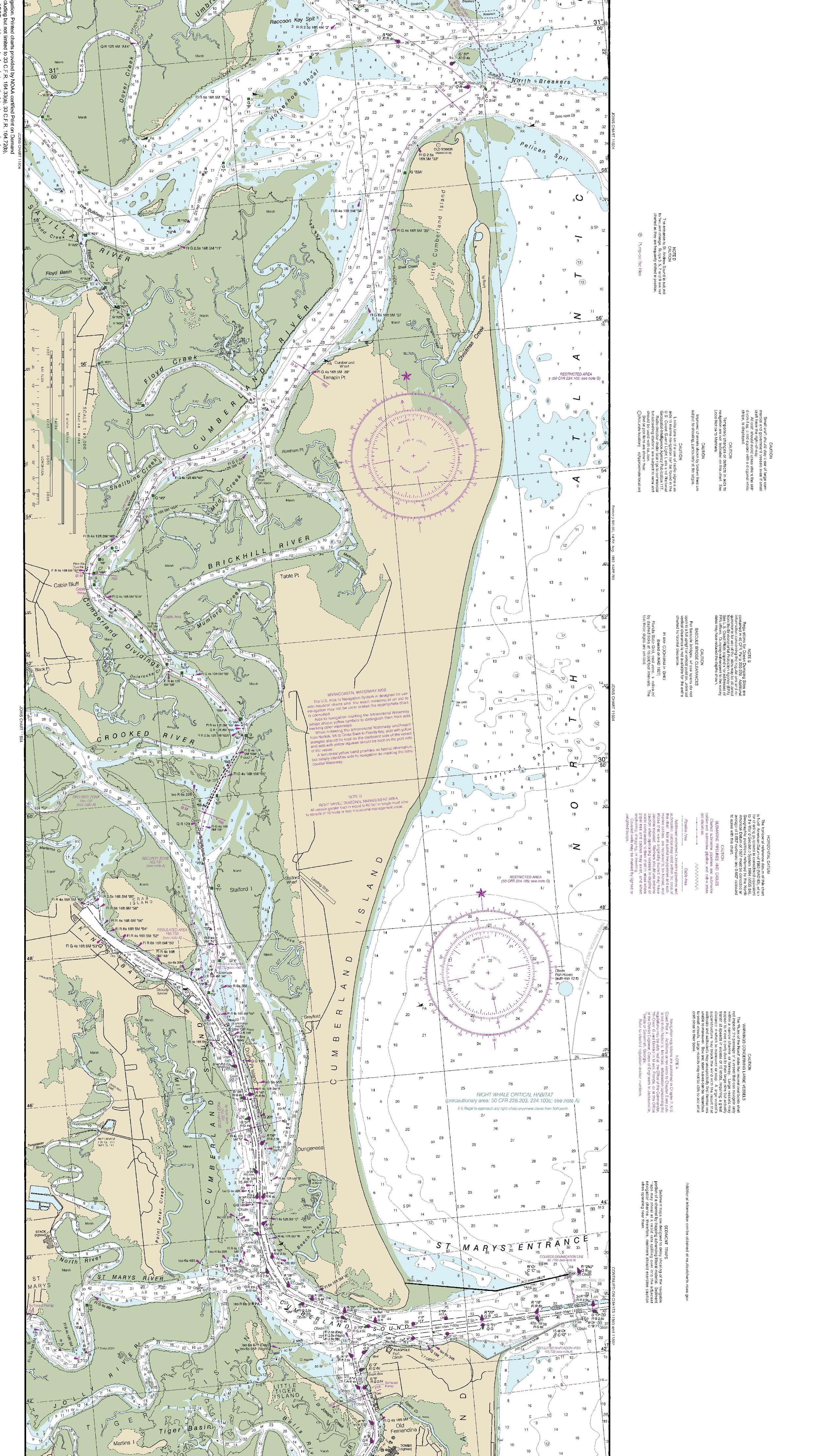 The Intracoastal Waterway Oceanic Chart
