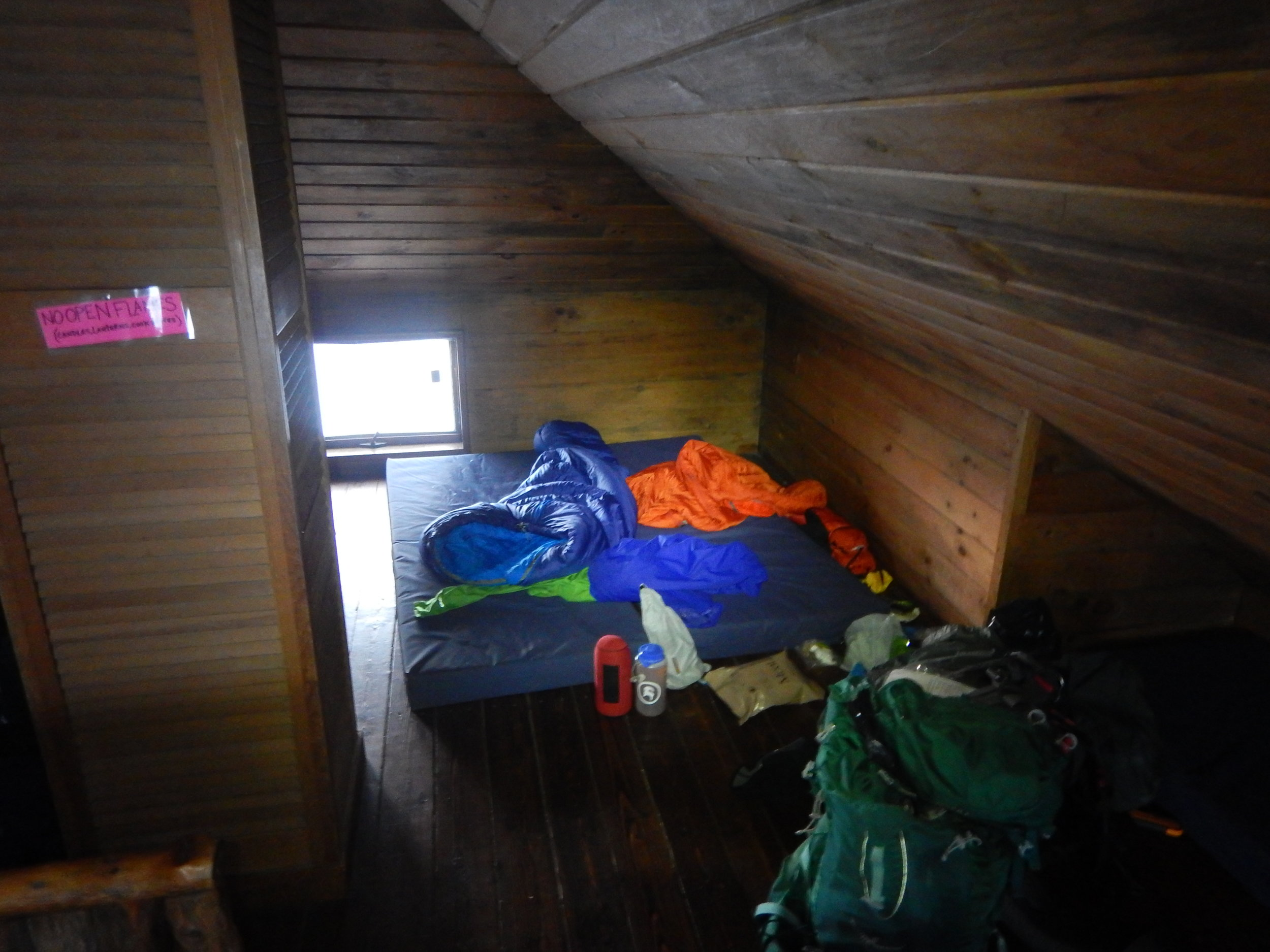 Sleeping in Grey Knob