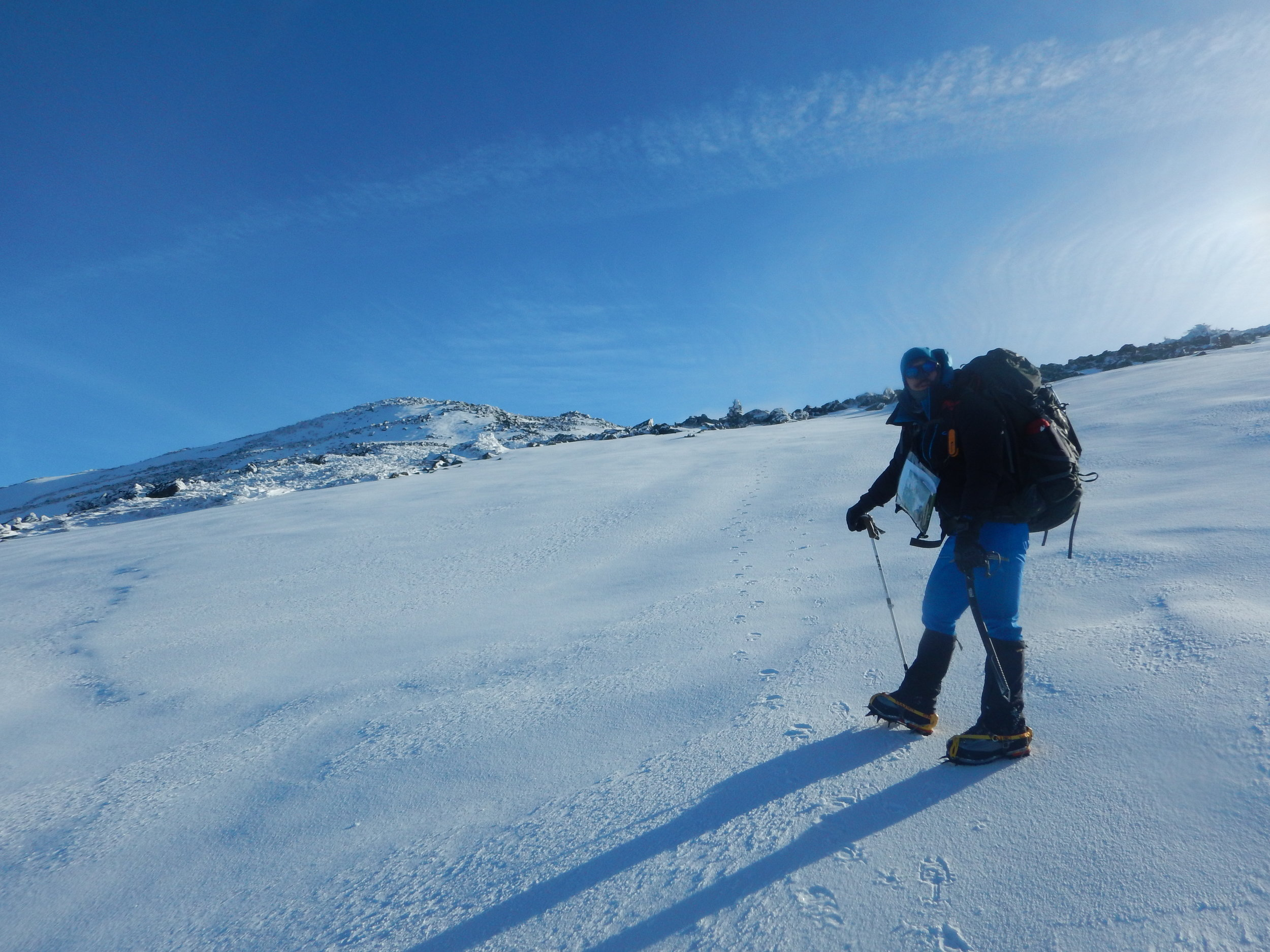 Crossing the Snow Field