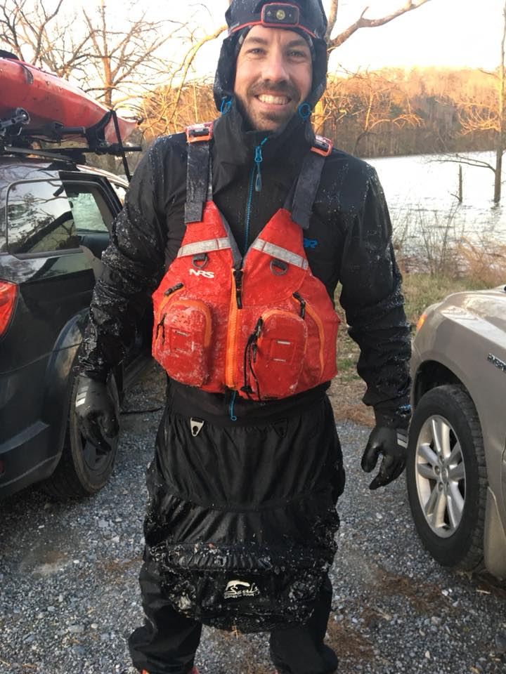 The zipper of my PFD was frozen shut.