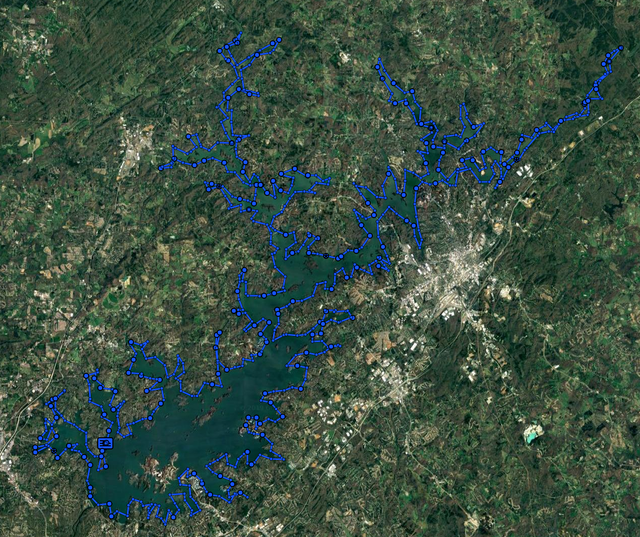GPS Tracks of The Lanier Lap