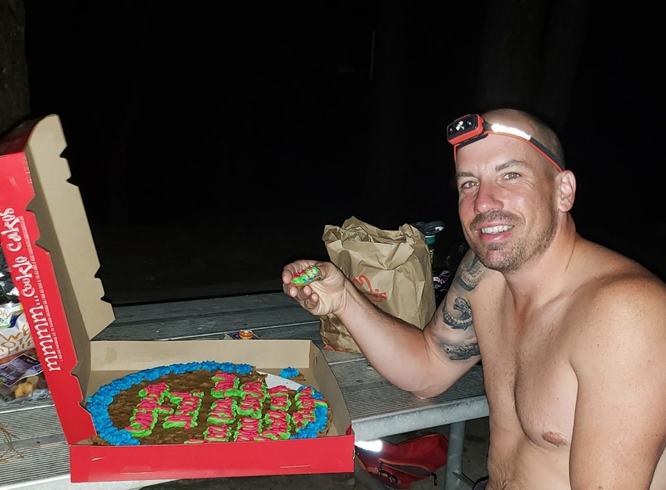 Joshua Forester Eating Cookie Cake