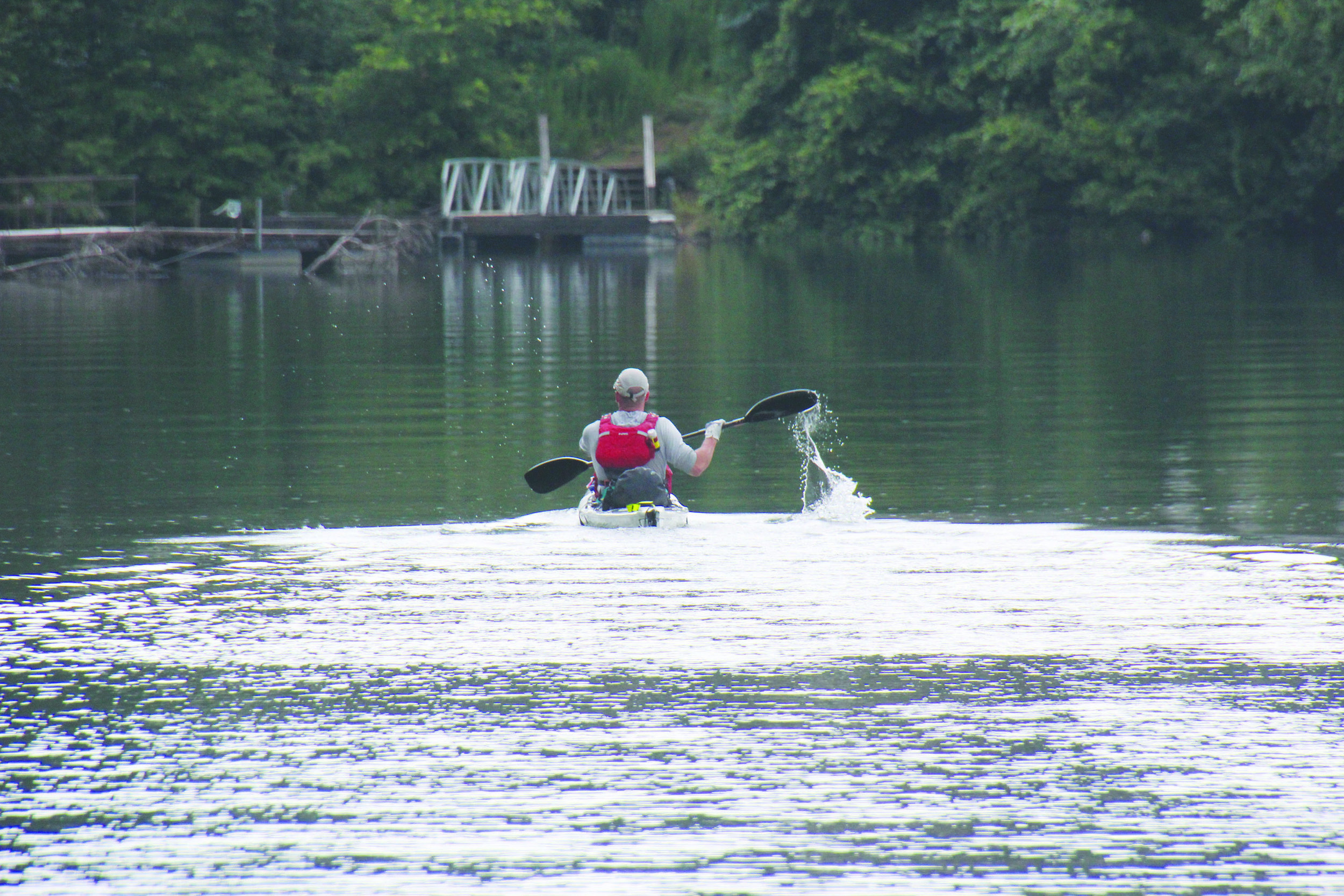 JOSHUA FORESTER COMPLETES LANIER LAP