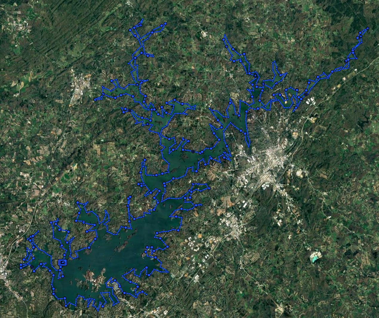 Garmin InReach GPS Tracks from The Lanier Lap