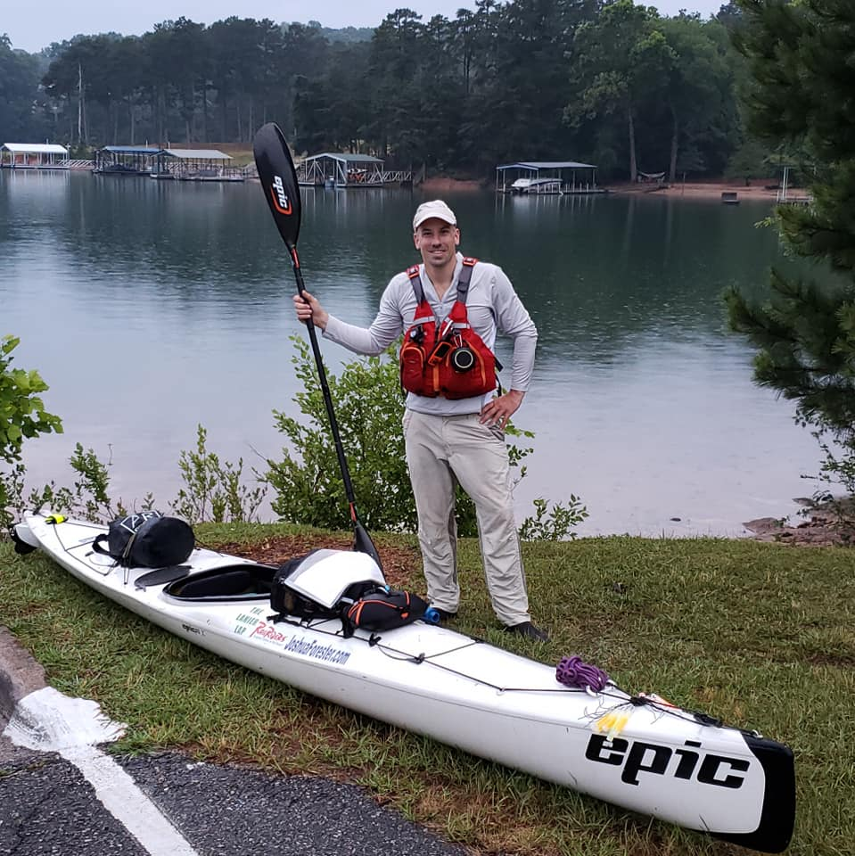Joshua Forester at the start of The Lanier Lap