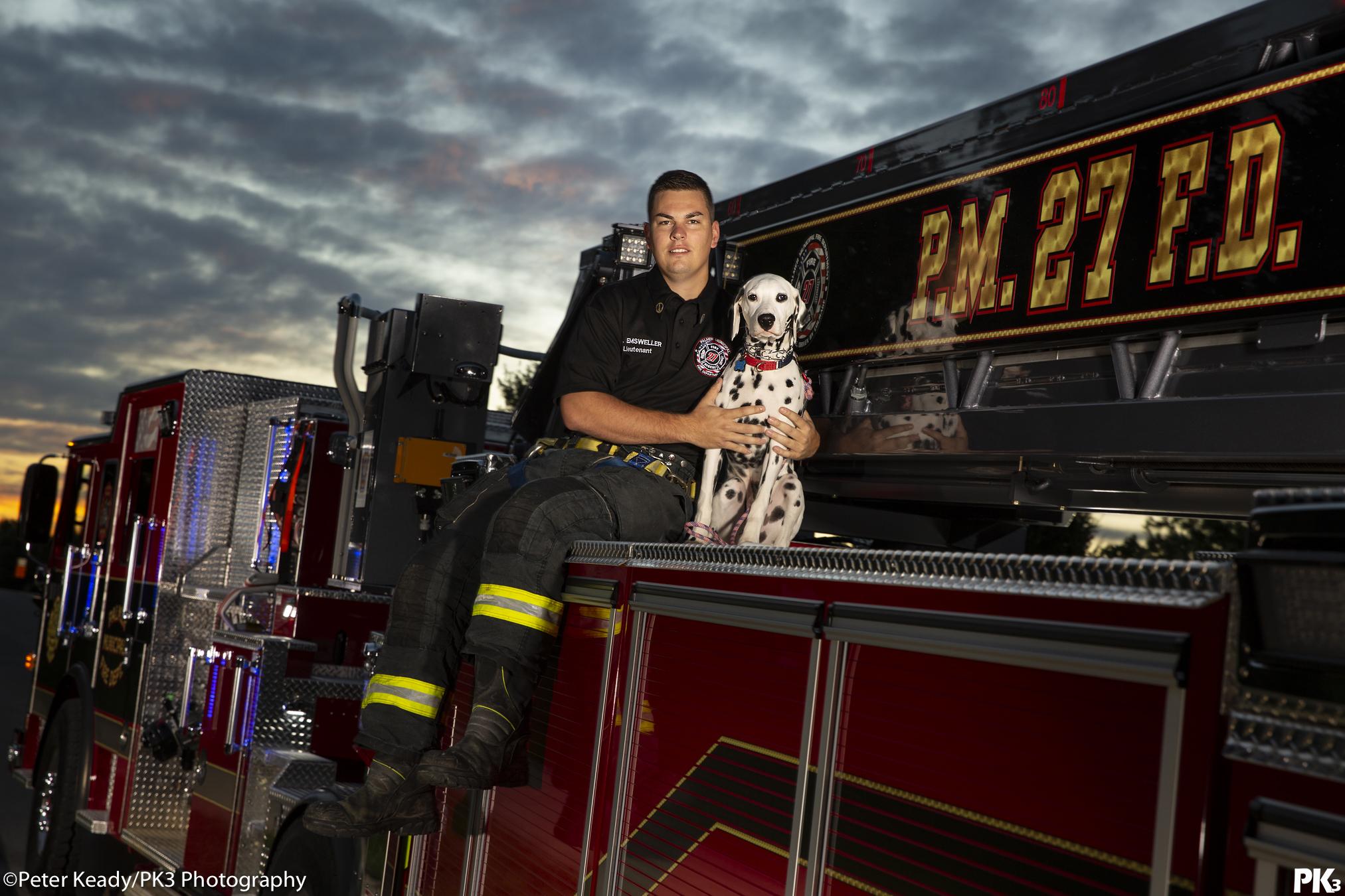 Lieutenant Emsweller of Palmer Municipal Fire Department. SmokeEaters.