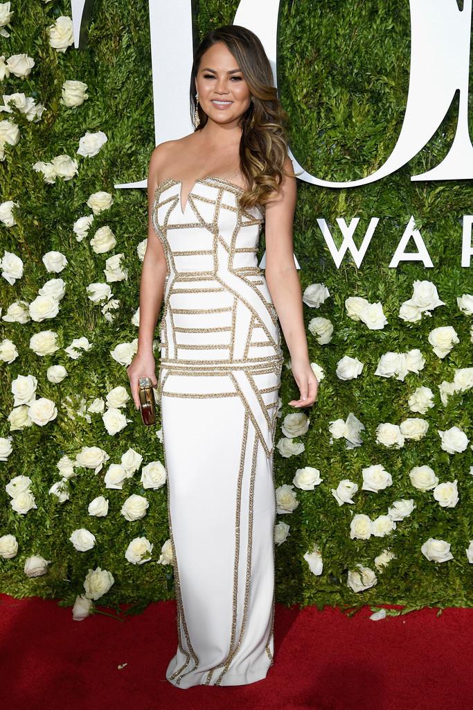 Chrissy Teigen attends the 2017 Tony Awards at Radio City Music Hall
