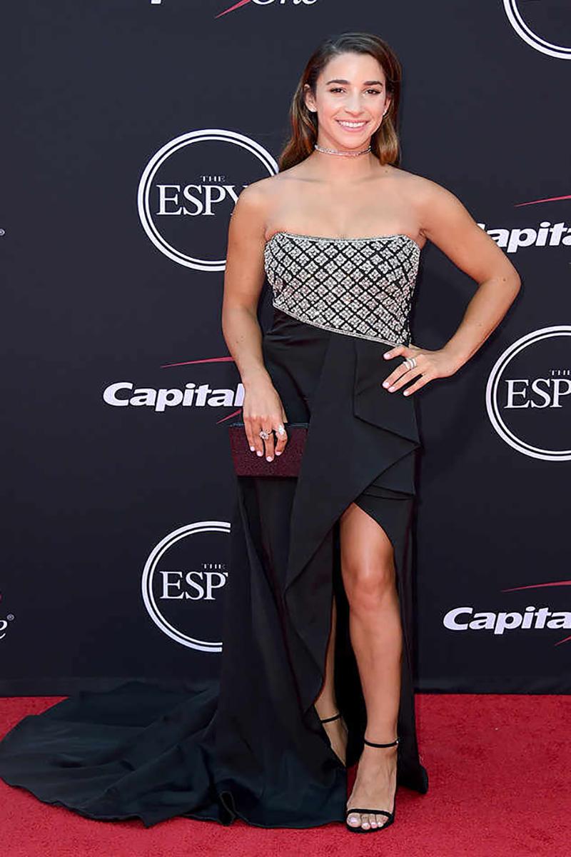 Aly Raisman on the ESPYS red carpet