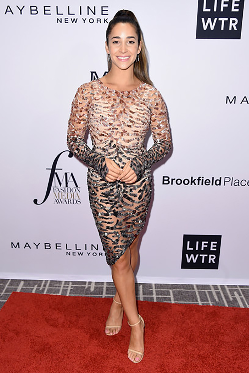 Gymnast Aly Raisman attends the Daily Front Row's Fashion Media Awards