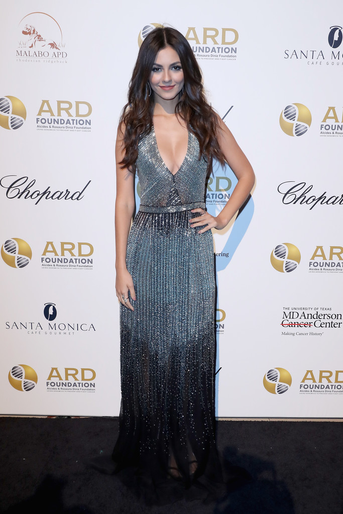 "Victoria Justice attends the Alcides & Rosaura (ARD) Foundations' ""A Brazilian Night"" to Benefit Memorial Sloan Kettering Cancer Center (MSK) in New York City."