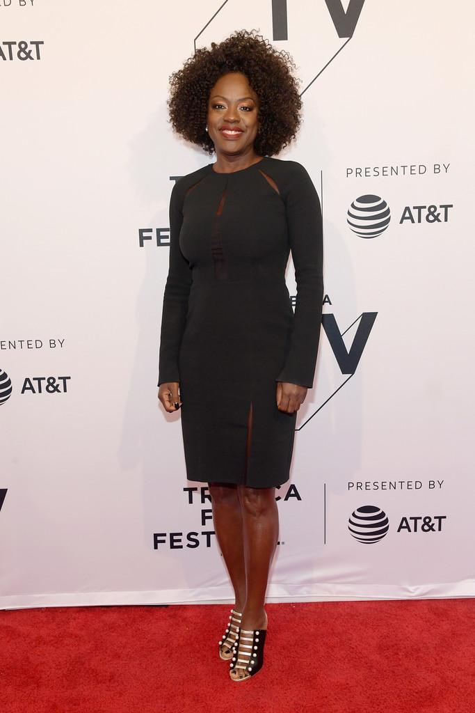 Viola Davis on the red carpet at the Tribeca Film Festival