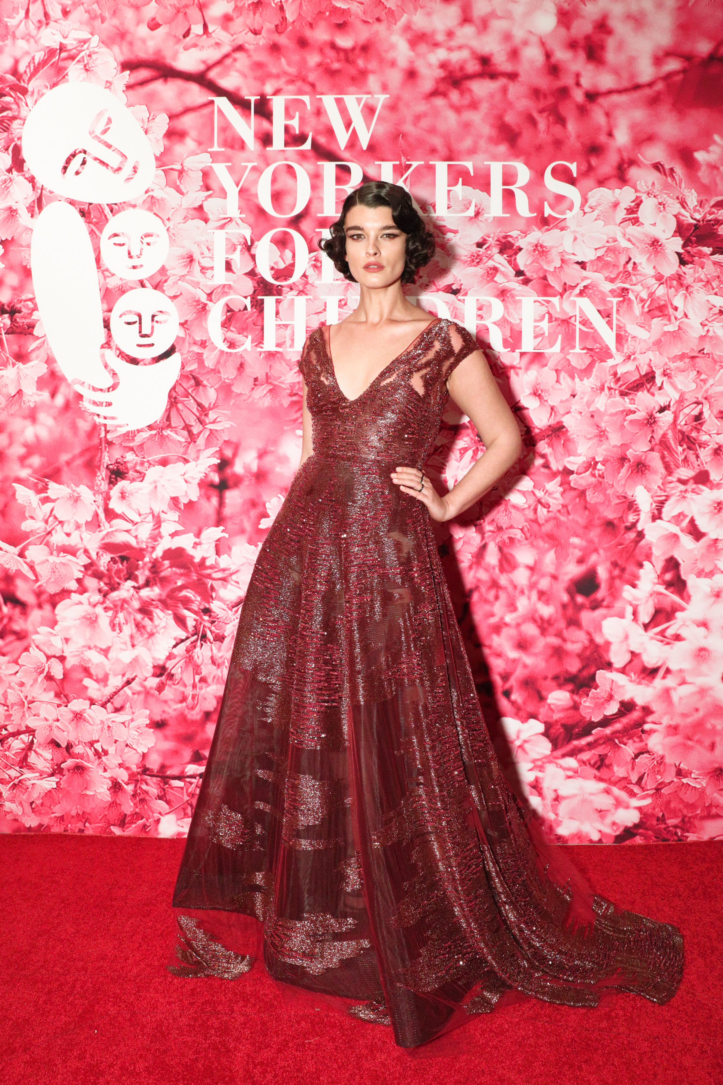 Model Crystal Renn attends The New Yorkers For Children's A Fool's Fete: Enchanted Garden Gala