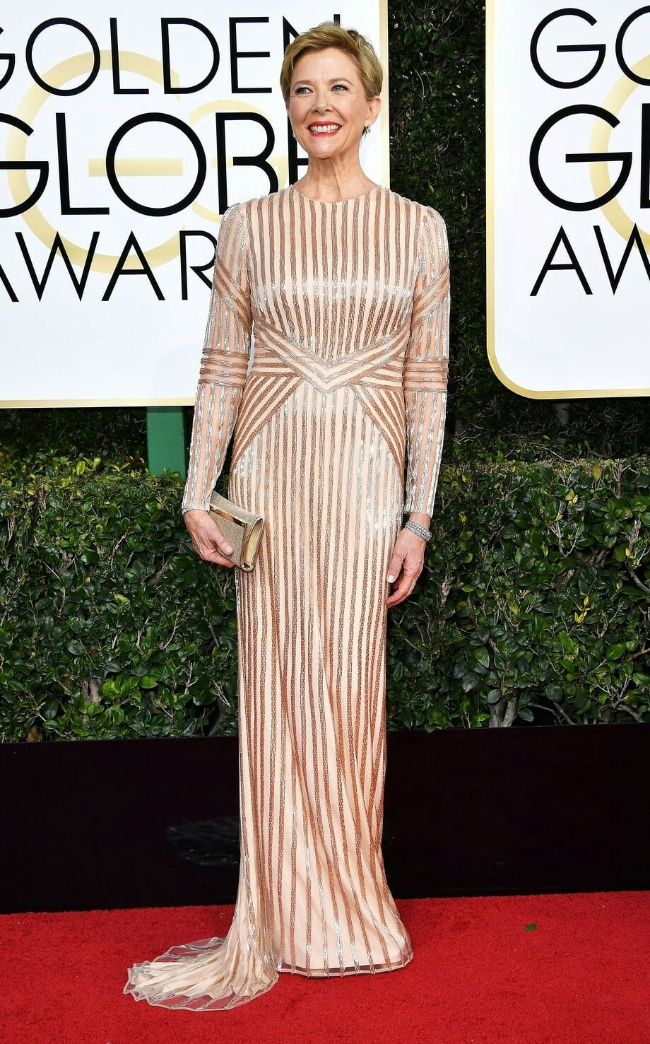 Annette Bening attends the 74th Annual Golden Globe Awards