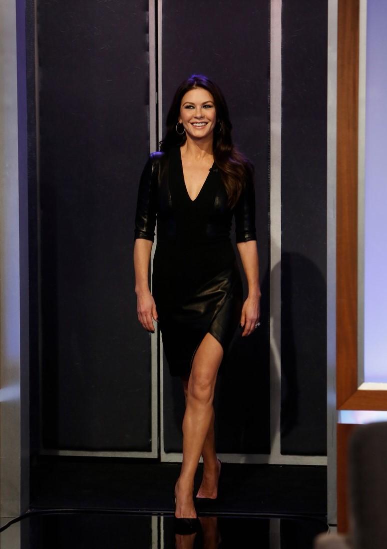 Catherine Zeta-Jones Appears on Jimmy Kimmel Live