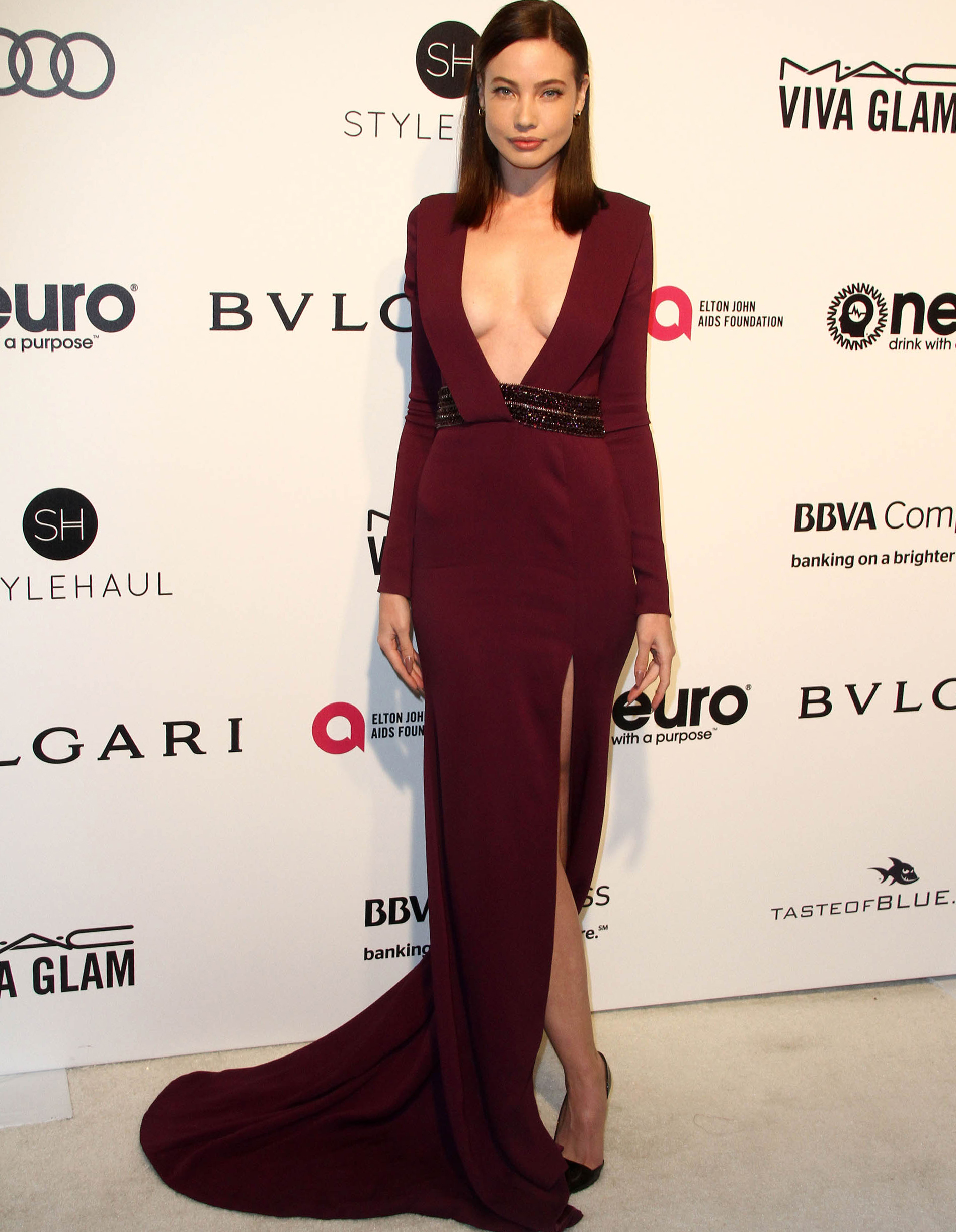 Stephanie Corneliussen attends the 25th Annual Elton John AIDS Foundation's Academy Awards Viewing Party.