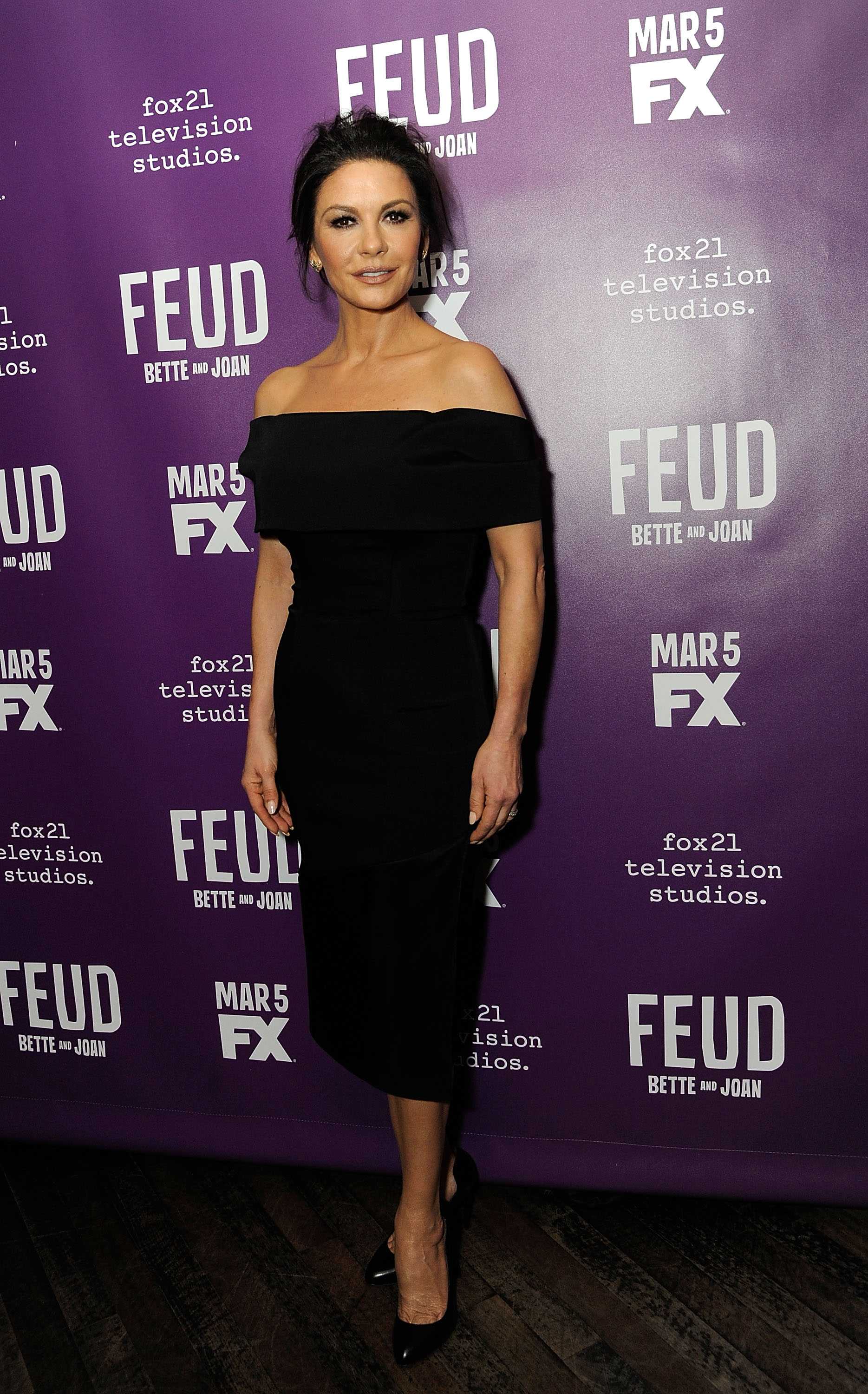 Catherine Zeta Jones at the premiere of her new show Feud.