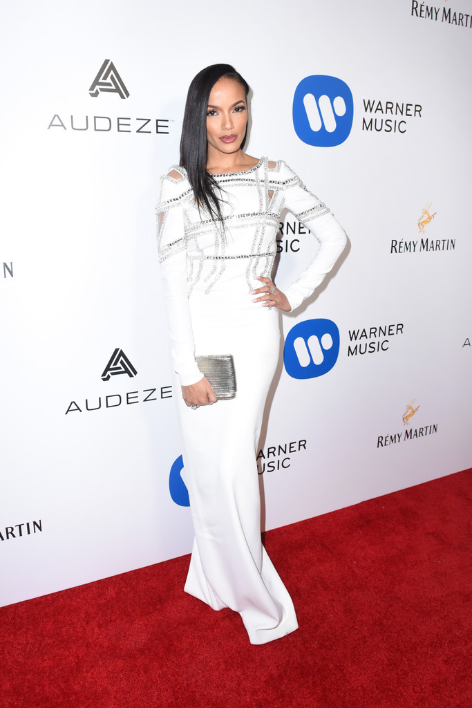 Selita Ebanks attends the Warner Music Group GRAMMY Party at Milk Studios.