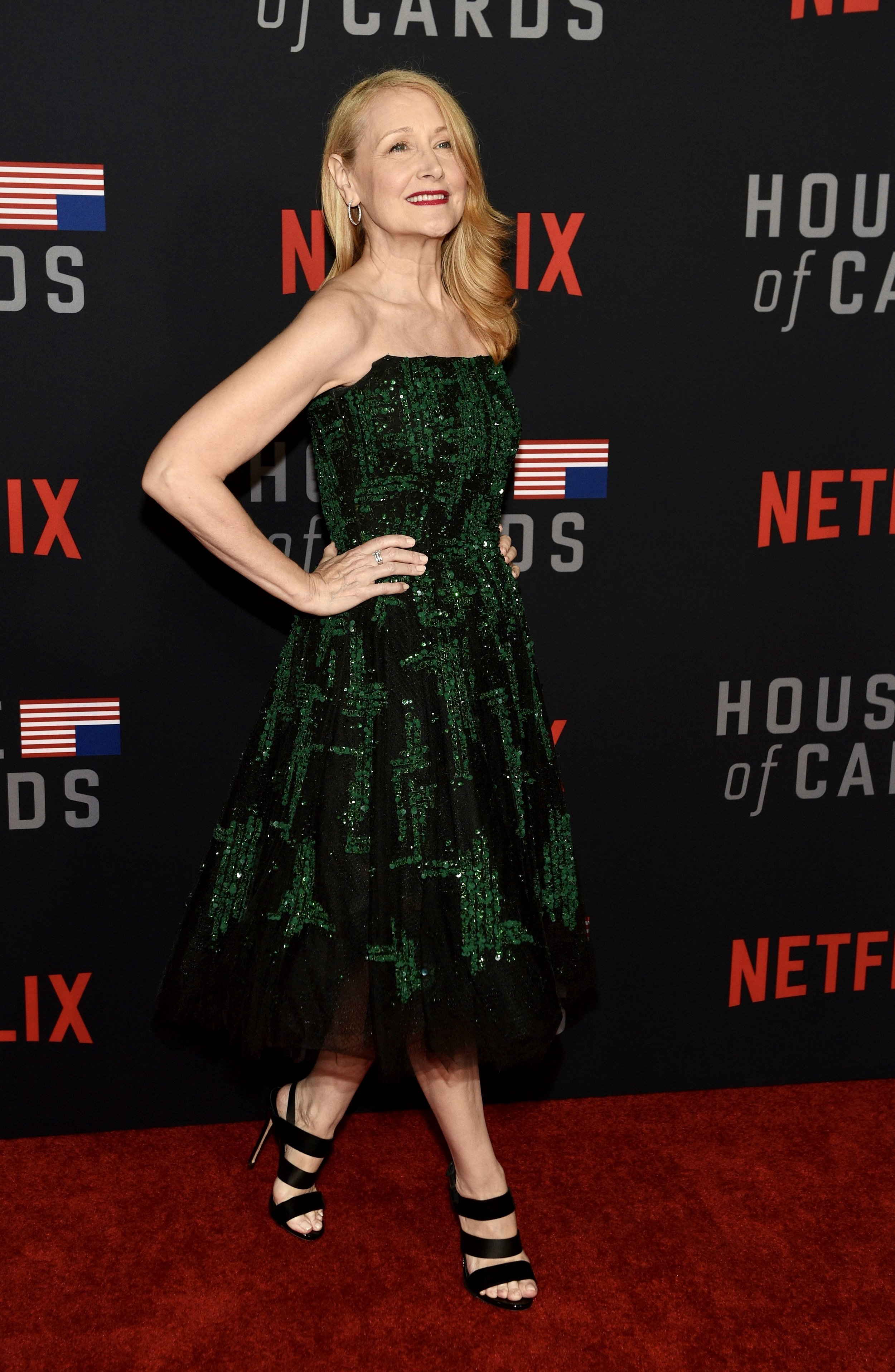 "Patricia Clarkson attends the Los Angeles premiere screening of Netflix's ""House of Cards"" Season 6."
