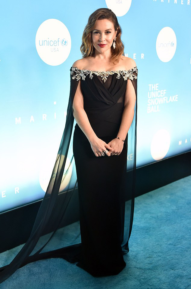 Alyssa Milano attends the UNICEF USA's 14th Annual Snowflake Ball