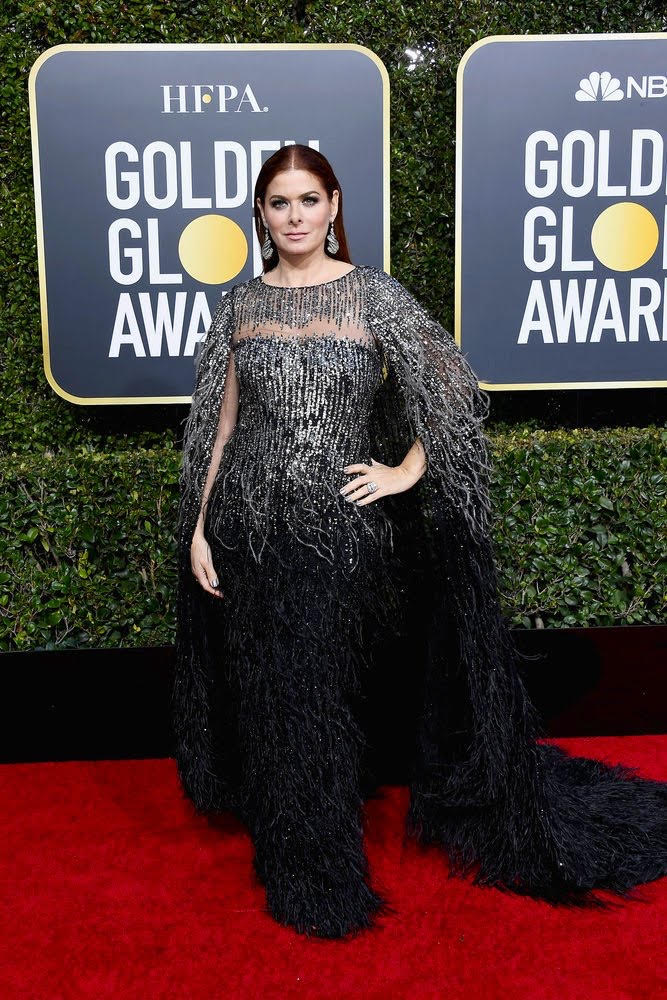 Debra Messing attends the 76th Annual Golden Globe Awards