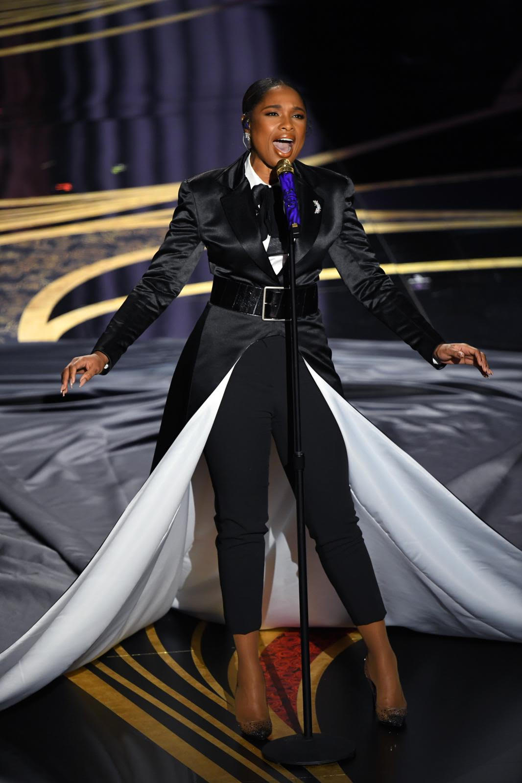 Jennifer Hudson performs at the 91st Annual Academy Awards