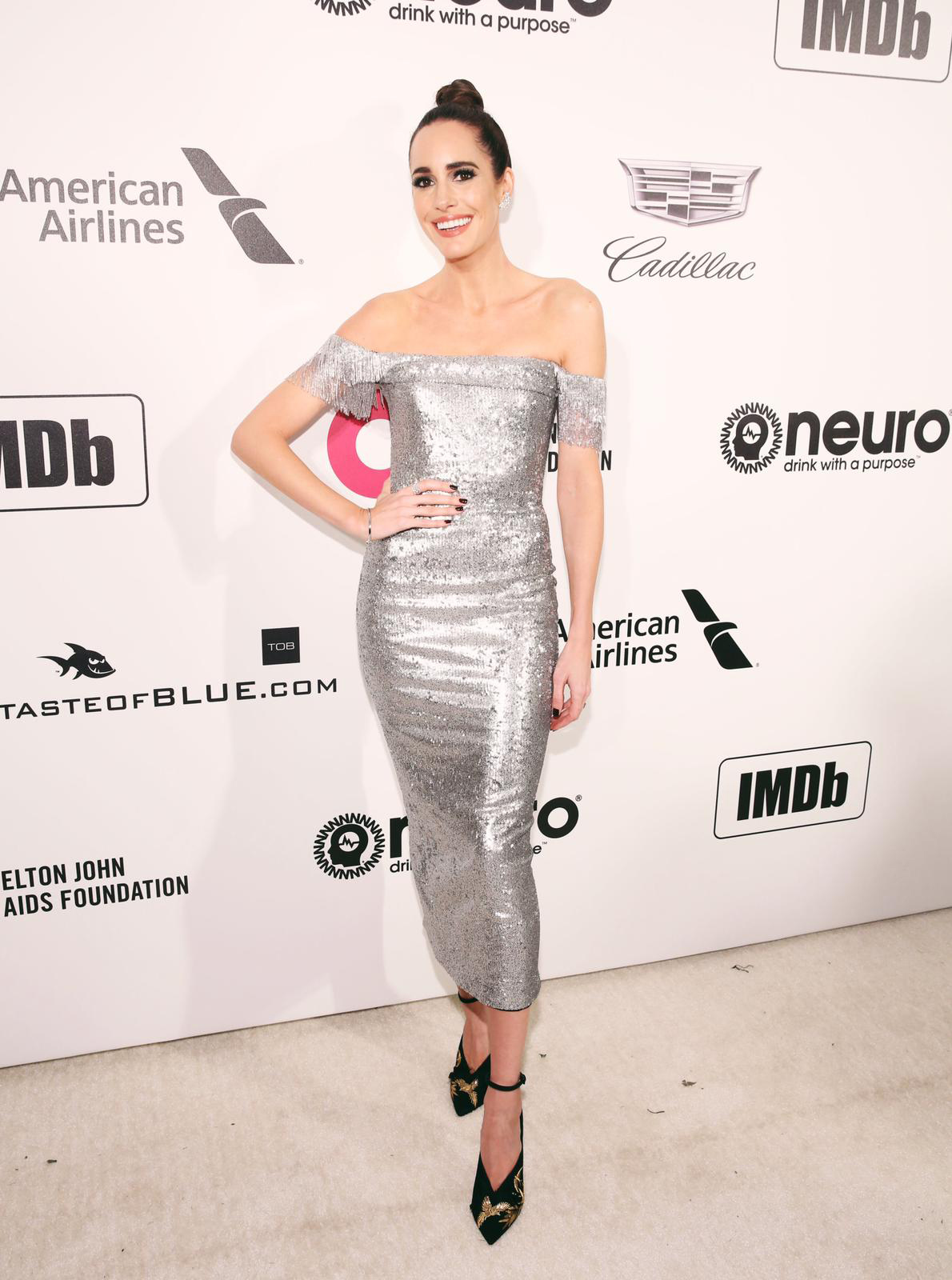 Louise Roe attends the 27th Annual Elton John AIDS Foundation Academy Awards Viewing Party
