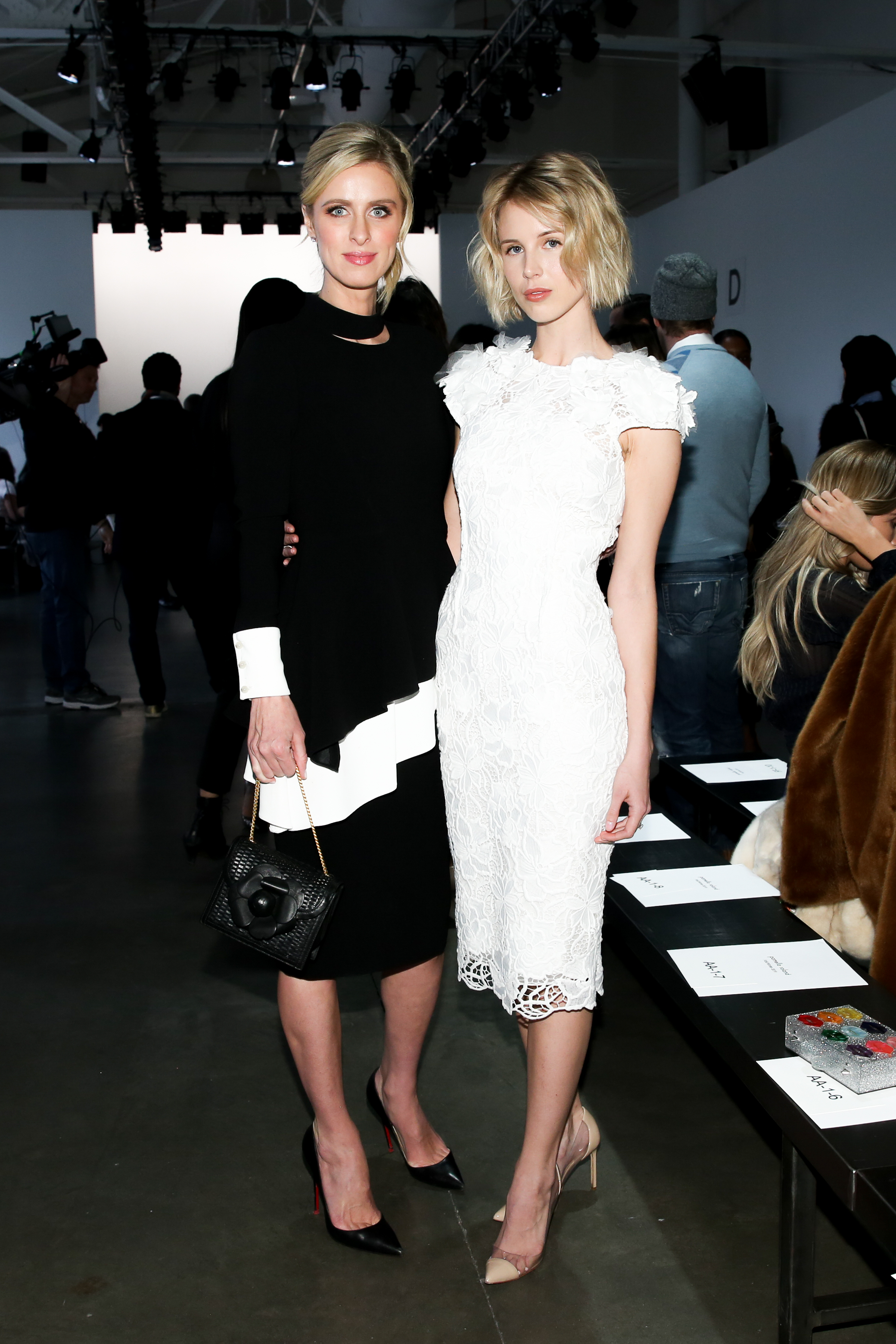 Nicky and Tessa Hilton at our FW 2019 show