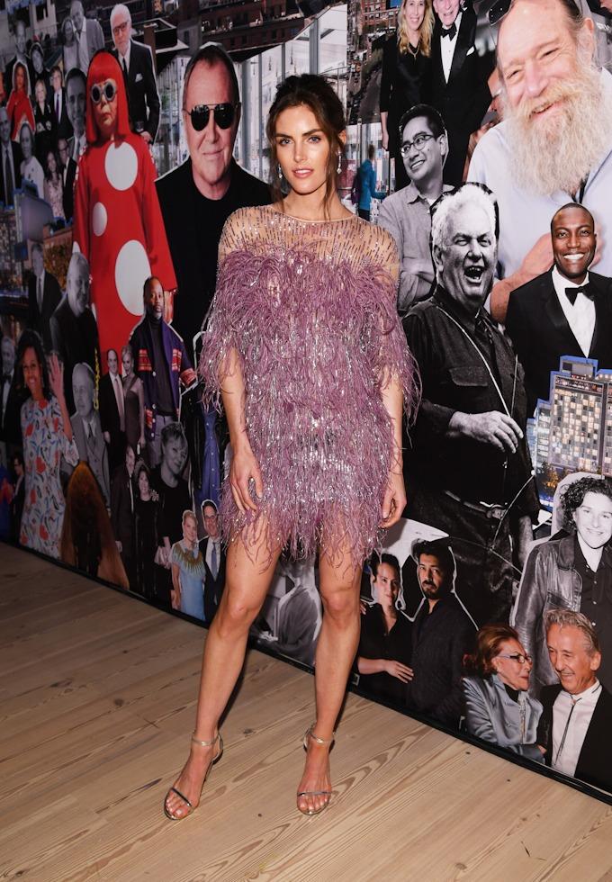 Model Hilary Rhoda attends the 2019 Whitney Gala