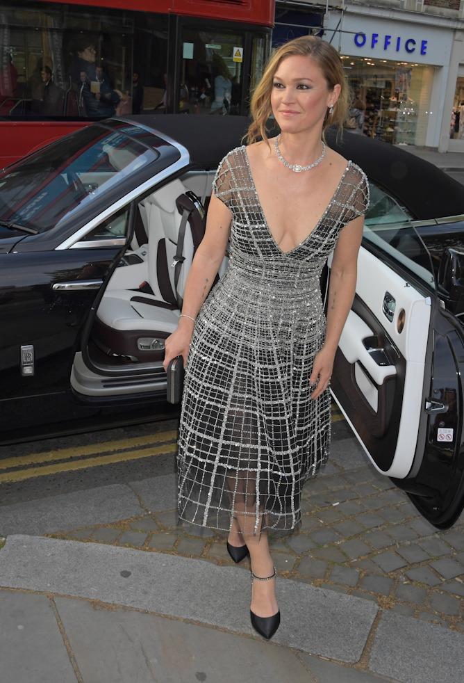 Julia Stiles attends the premiere of Riviera Season Two in London