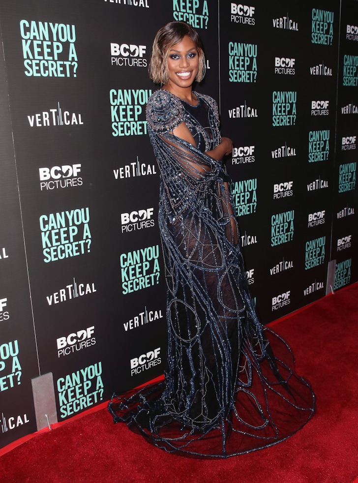 """Laverne Cox attends the special screening of """"Can You Keep a Secret?"""" in Hollywood, California."""