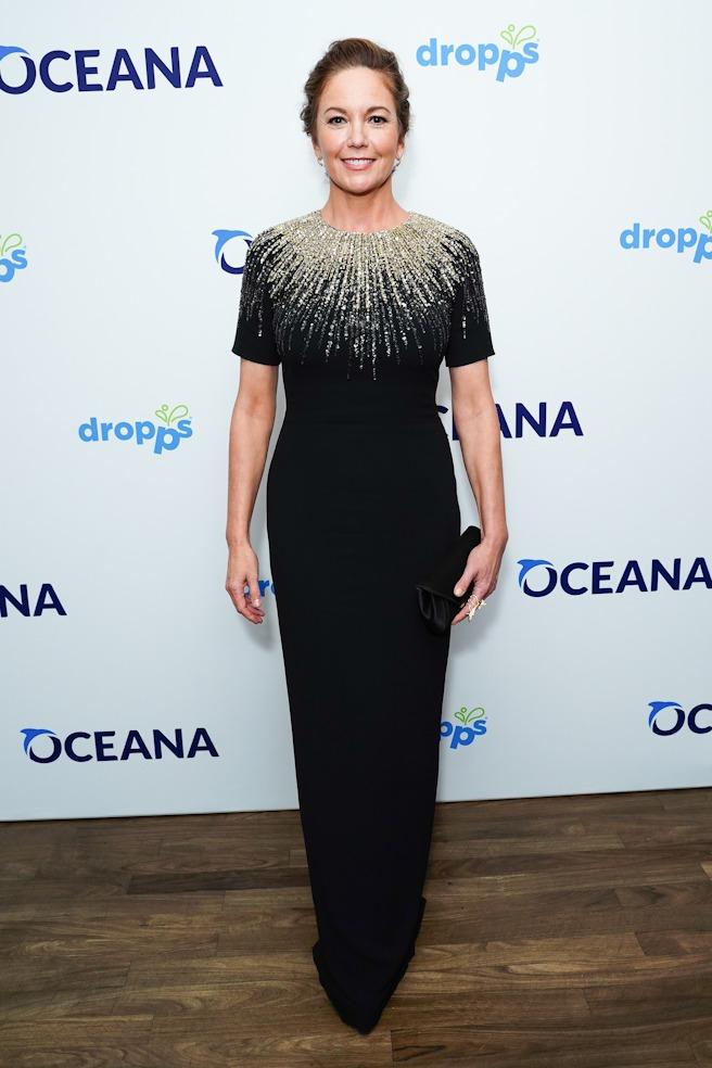 Diane Lane attends the OCEANA 2019 NY Event Gala honoring Diane Lane and Simon Sidamon-Eristoff.
