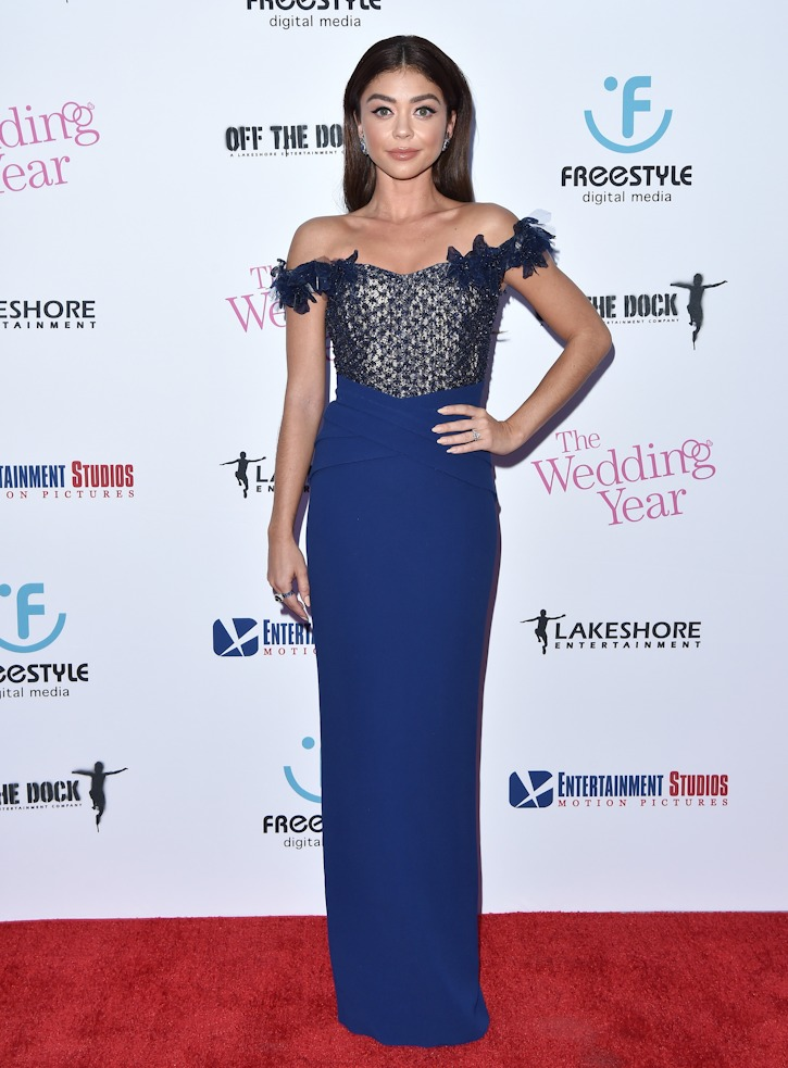 """Sarah Hyland attends the premiere of """"Wedding Year"""" in Hollywood, CA."""