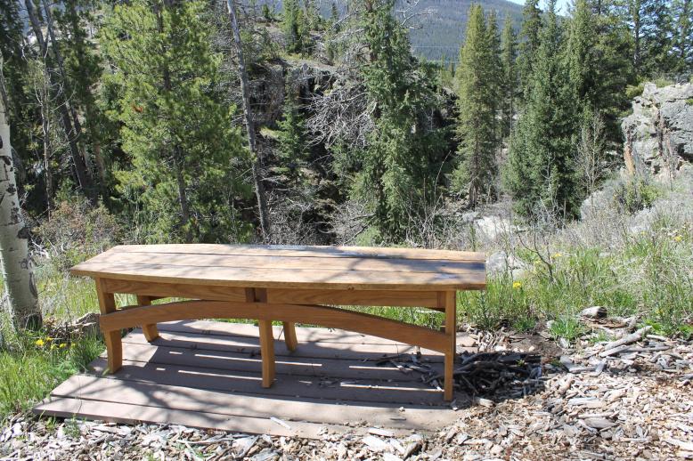 oak custom bench