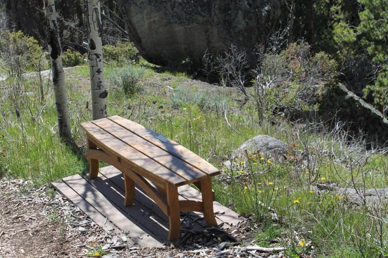 commissioned oak bench custom design