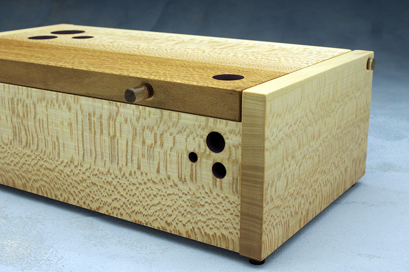 sycamore handmade box with windows