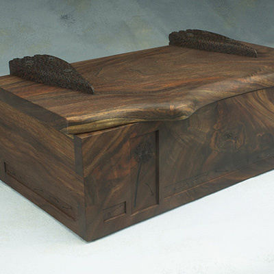 walnut box custom heirloom treasure box