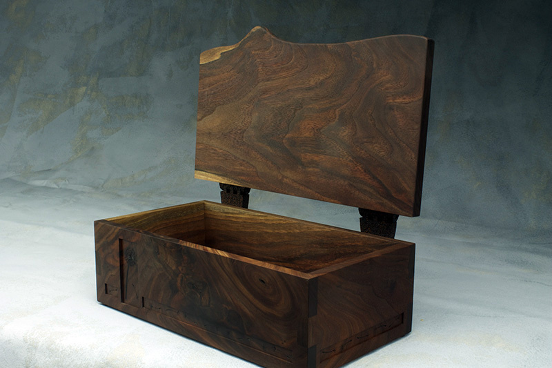 walnut hinge walnut pyrography box handmade wooden