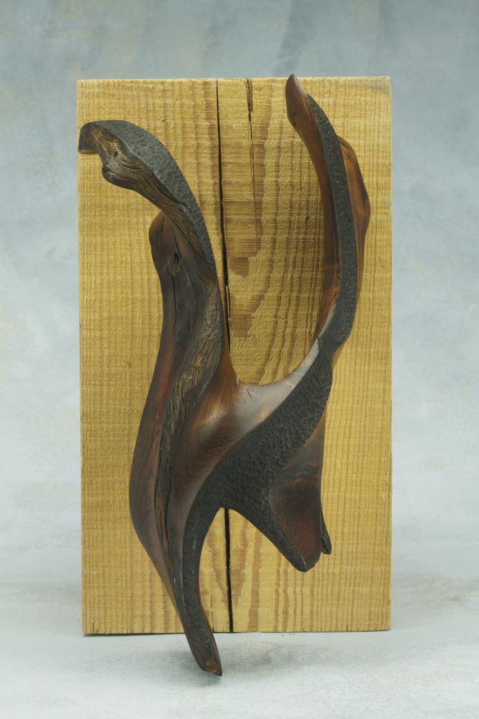 mesquite wood sculpture woman maker kansas city parkville