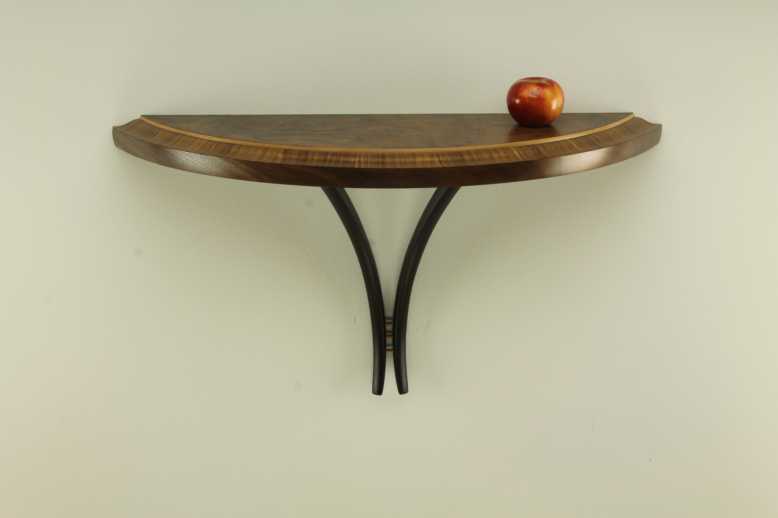walnut and sycamore custom fine furniture table