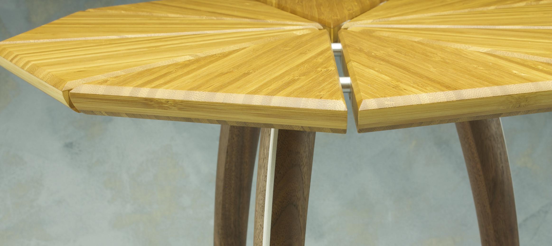 aluminum dowel handmade fine furniture table