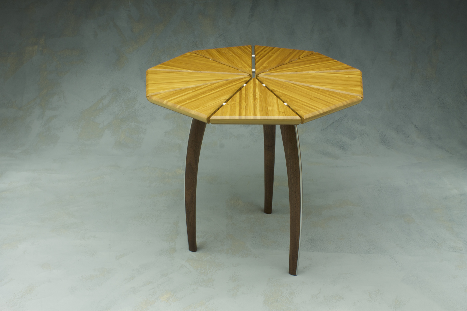 bamboo and reclaimed walnut custom bespoke furniture table