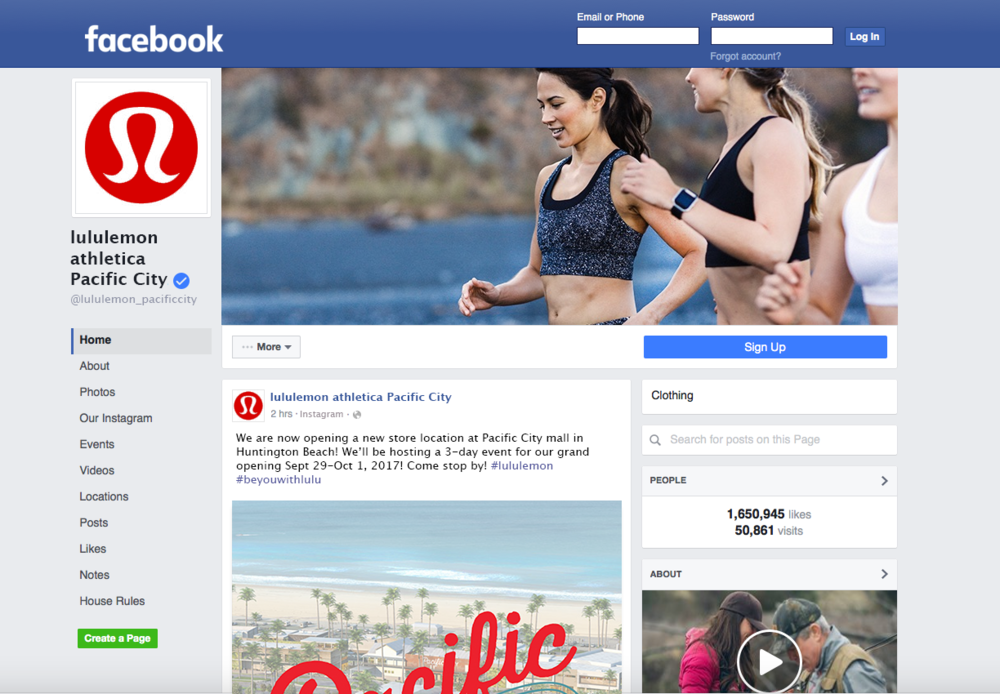 Social Media Advertisement: Facebook Page